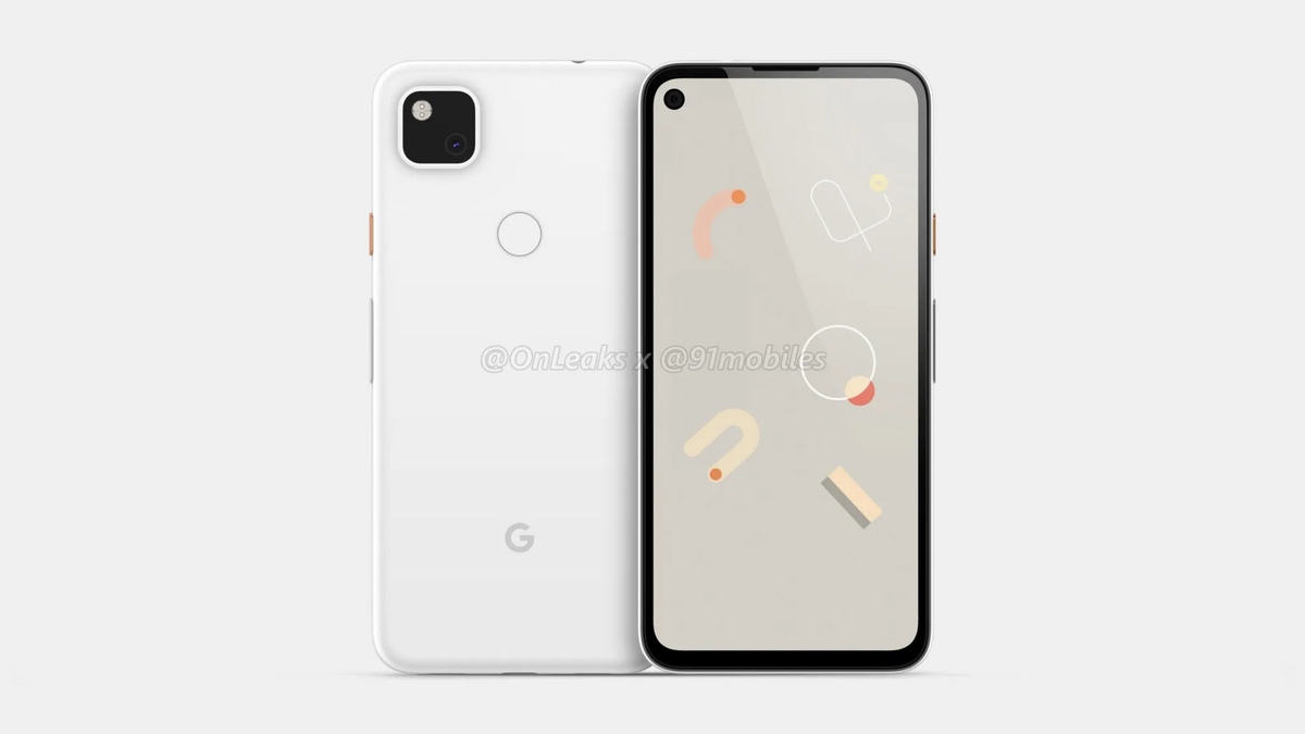 Google Pixel 4a © OnLeaks / 91mobiles