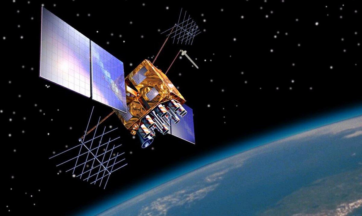Rendu d'artiste d'un satellite GPS