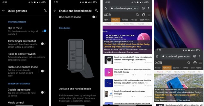 OnePlus mode une main