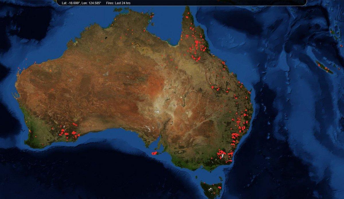Feux Australie FIRMS
