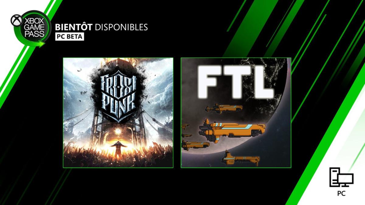 Xbox Game Pass PC janvier 2020