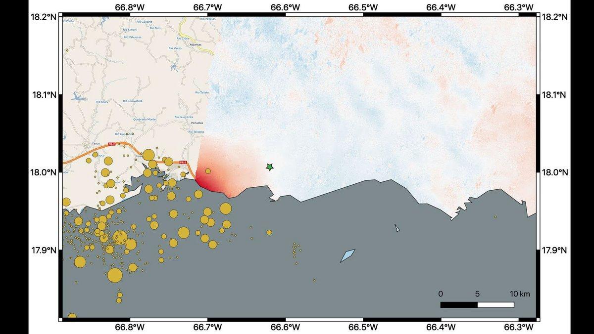 tremblements de terre Puerto Rico NASA