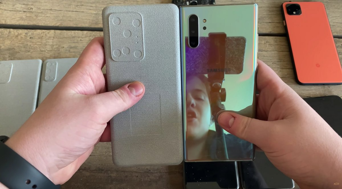 Samsung Galaxy S20 Ultra comparaison Note 10+