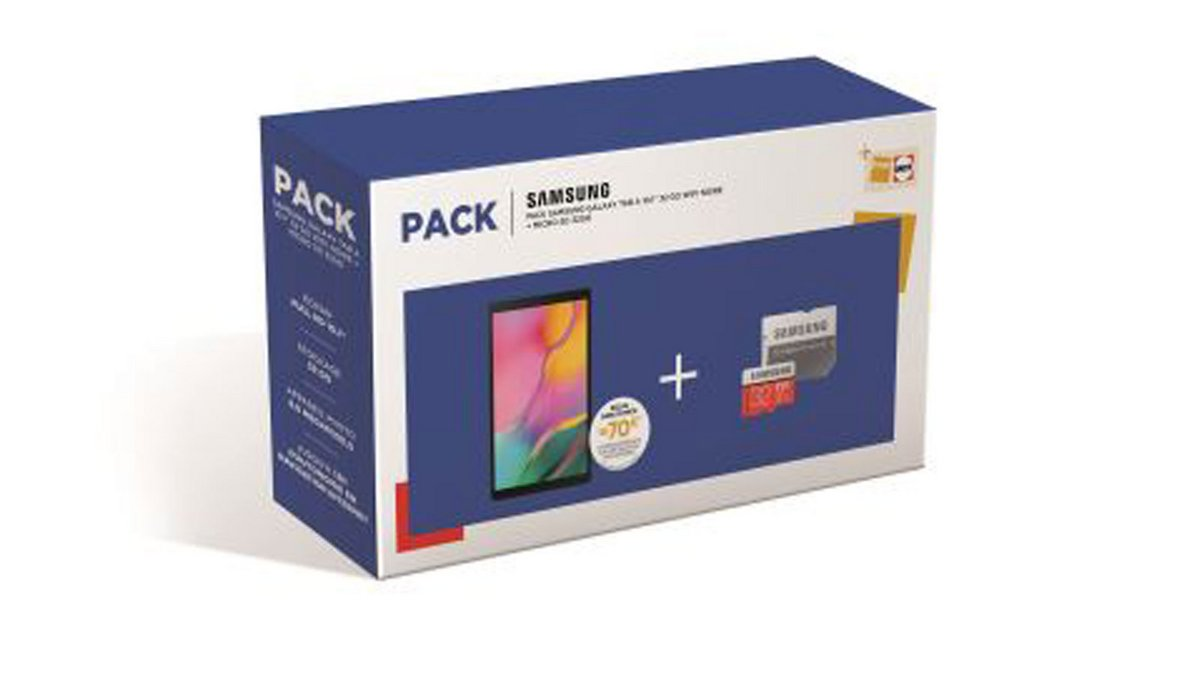 pack samsung galaxy tab + carte sd