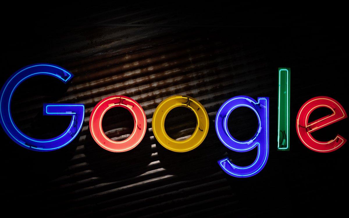 Google logo neon