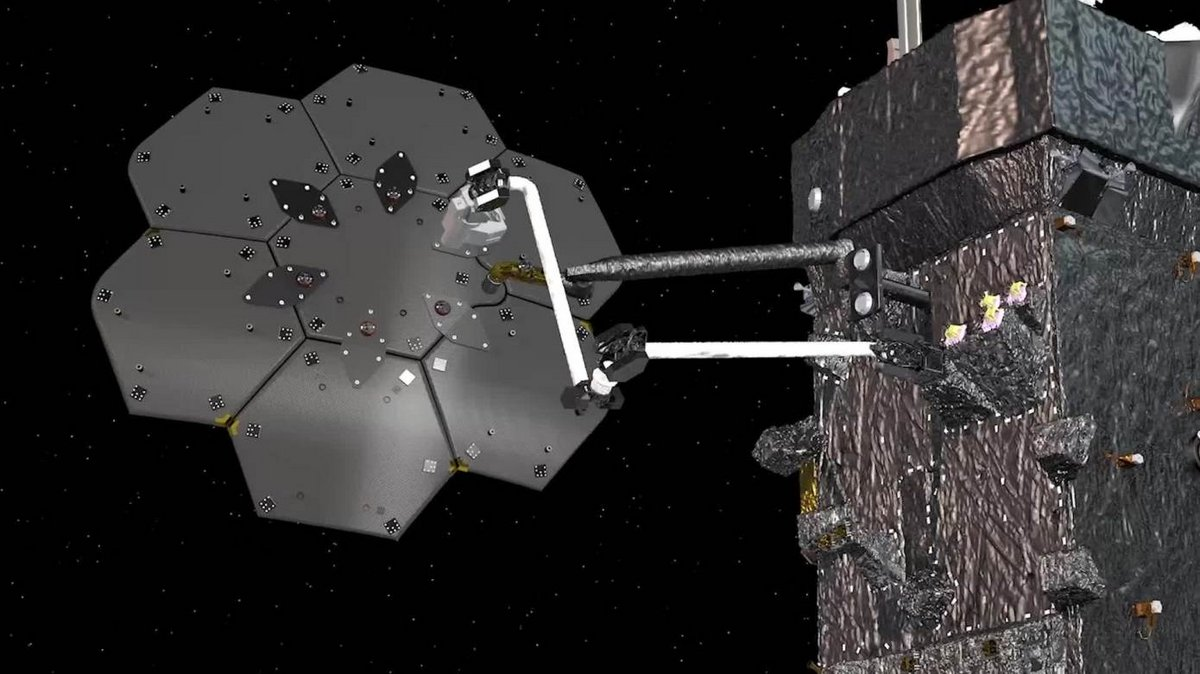 Assemblage en orbite SPYDER