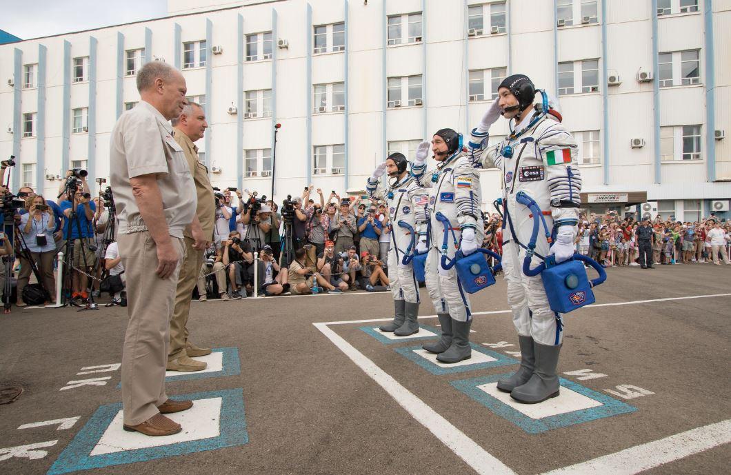 Baïkonour astronautes prêts
