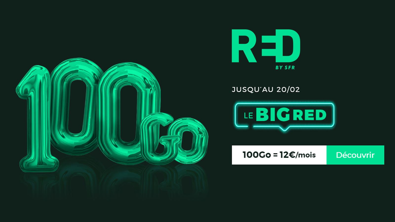 🔥 Dernière chance pour bénéficier du forfait mobile RED by SFR 100 Go à 12€ !