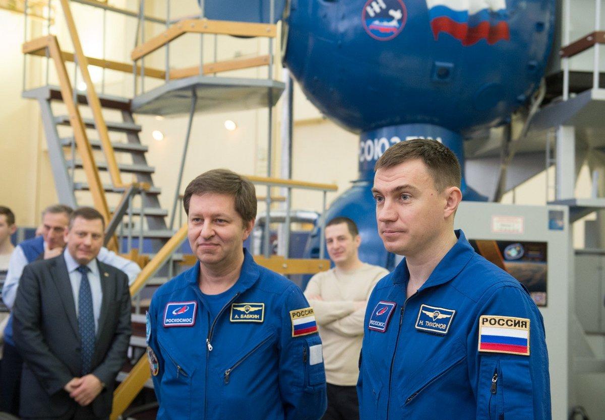 cosmonautes Tikhonov et Babkin