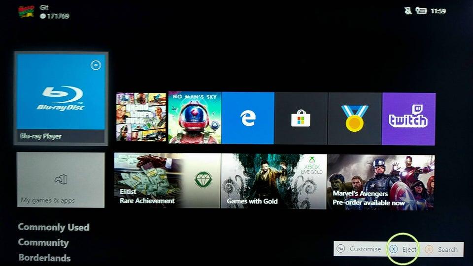 Xbox One éjection disque