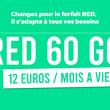 Forfait mobile : l'offre 4G illimité RED 60Go toujours en promotion !