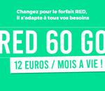 Forfait mobile : un bon plan RED 60 Go à ne pas laisser passer 🔥