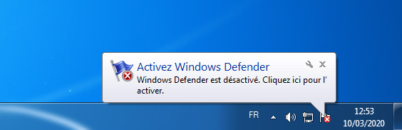 Windows Defender notification © clubic.com