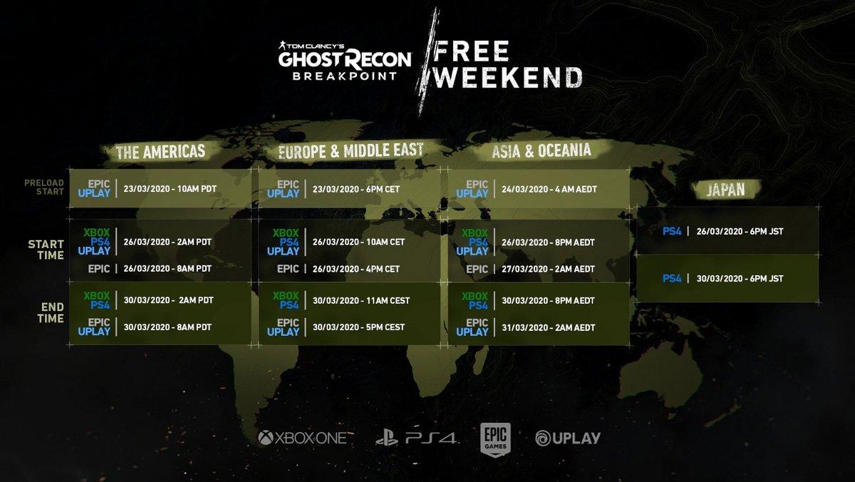 Ghost Recon Breakpoint week-end gratuit