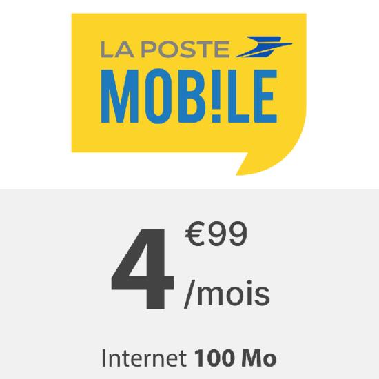 La Poste mobile 100 Mo