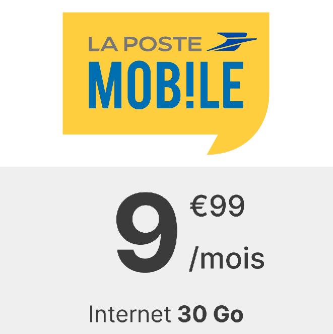 Forfait La Poste mobile 30 Go