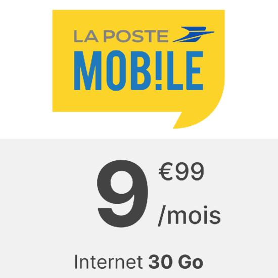 La Poste mobile 30 Go