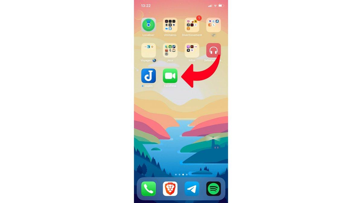 tuto lancer appel FaceTime iPhone