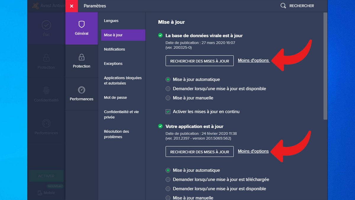 mise a jour avast antivirus pro 5.0.677