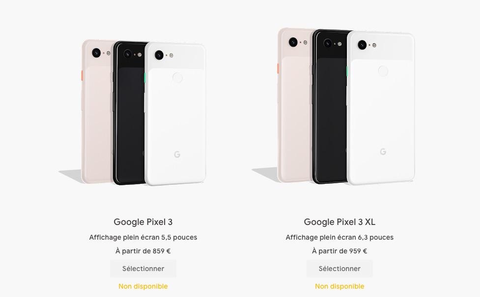 Google Pixel 3 arrêt production
