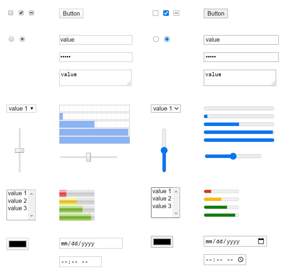Interface Formulaire Chromium