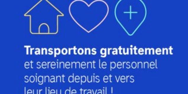 Les VTC LeCab offrent des courses gratuites au personnel soignant parisien, grâce à une cagnotte