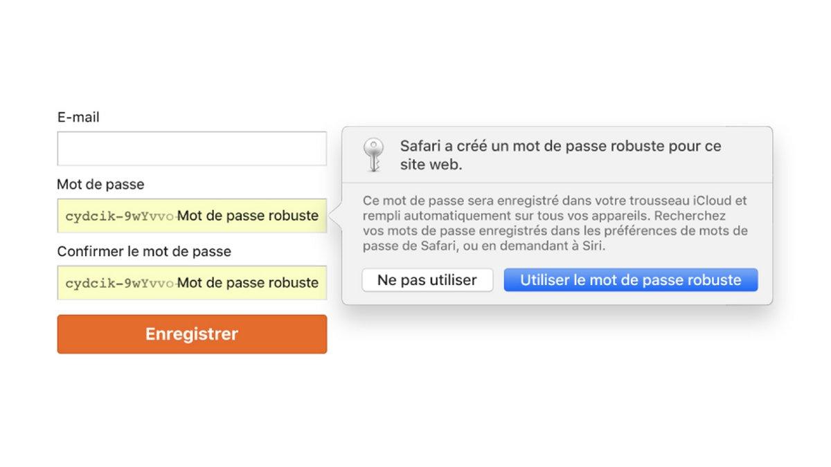 tuto données personnelles Safari