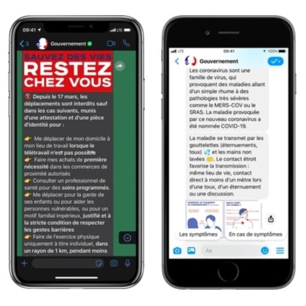Covid-19 : le gouvernement et Facebook s'associent pour lancer des chatbots sur WhatsApp et Messenger