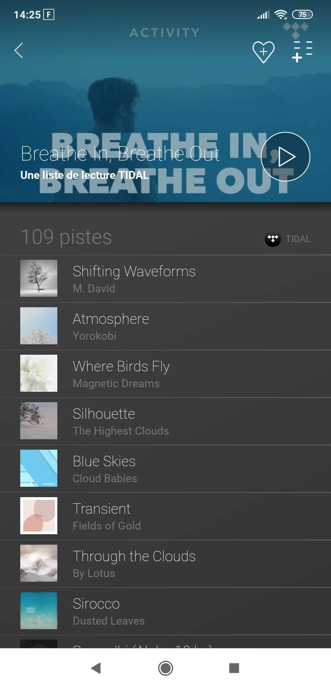 Dynaudio Music 1 - Liste de lecture
