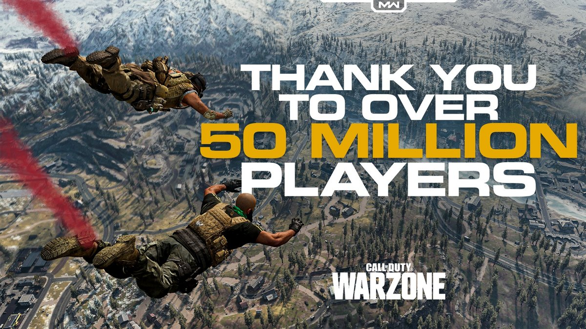 Call of Duty Warzone 50 millions joueurs