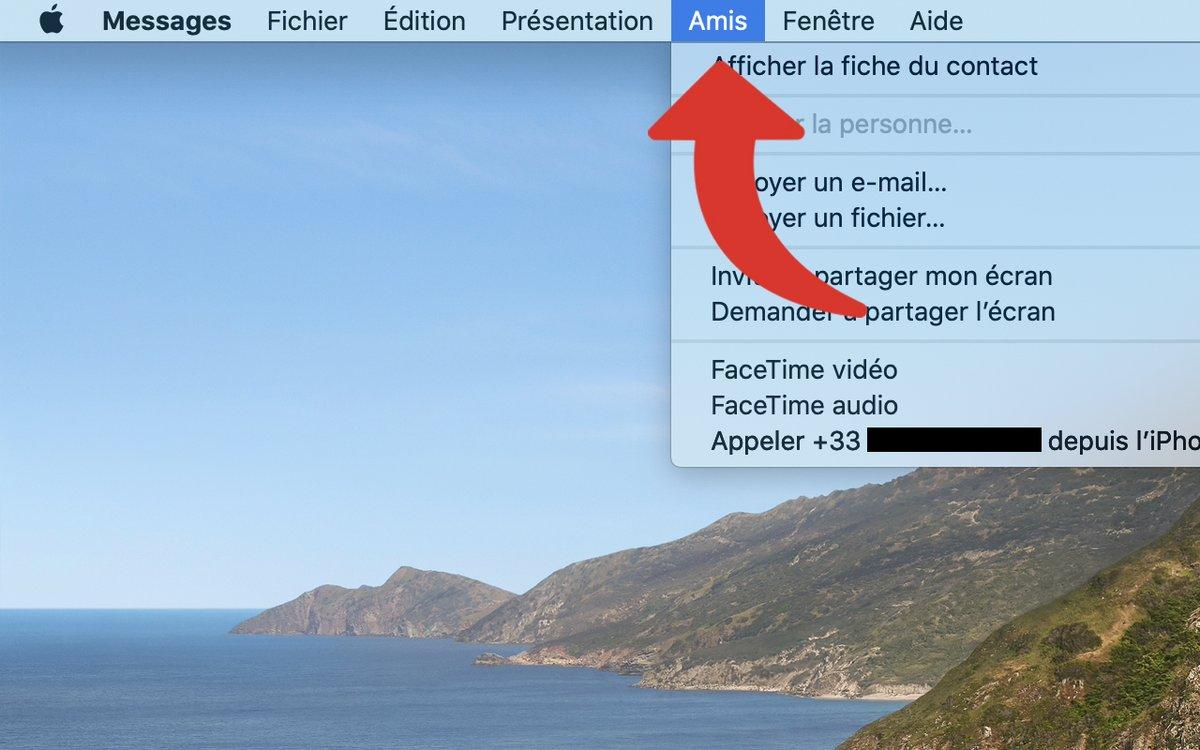 Partage écran iMessage macOS