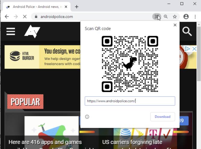 QR Code Chrome