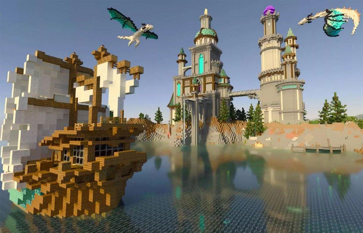 Minecraft RTX ©NVIDIA