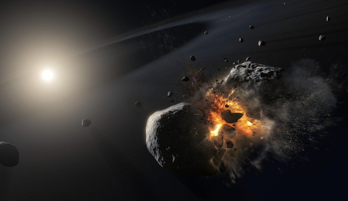 Collision exoplanète © ESA/NASA, M. Kornmesser