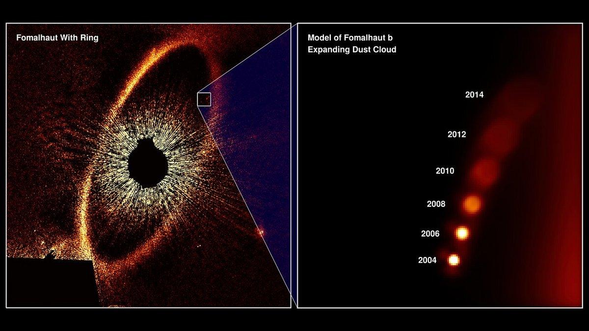 Hubble Fomalhaut b exoplanète © NASA, ESA, and A. Gáspár and G. Rieke (University of Arizona)