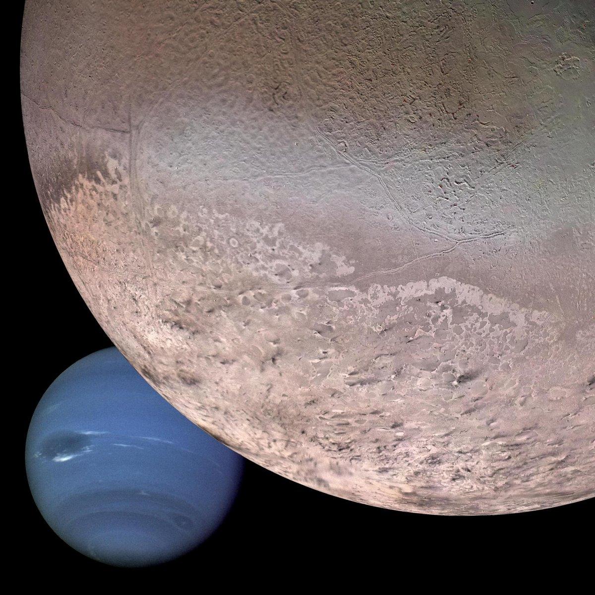 Montage Neptune Triton composite Voyager 2 © NASA/JPL-Caltech