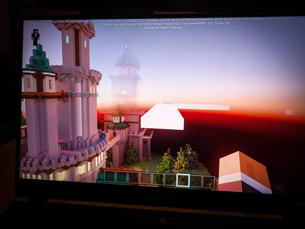 Gigabyte Aero 17, Minecraft RTX
