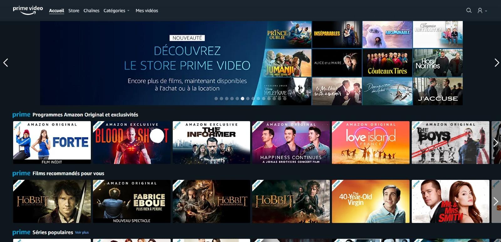 Amazon Prime Video étend son offre en France avec le lancement d'un service de VoD