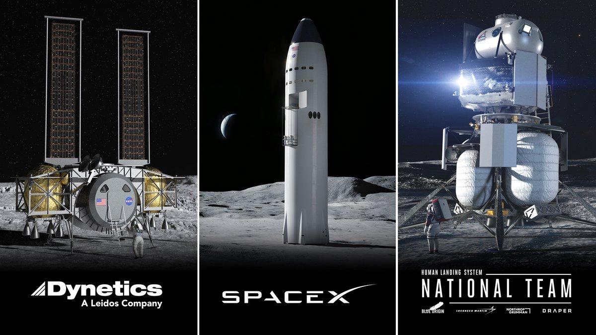 Artemis Lune atterrisseurs NASA © NASA