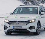 Le nouveau Volkswagen Touareg hybride rechargeable surpris en plein test