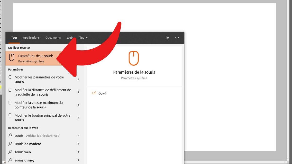 Windows 10 régler sensibilité souris