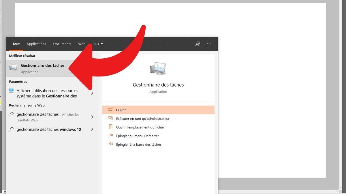 Windows 10 ouvrir gestionnaire des tâches