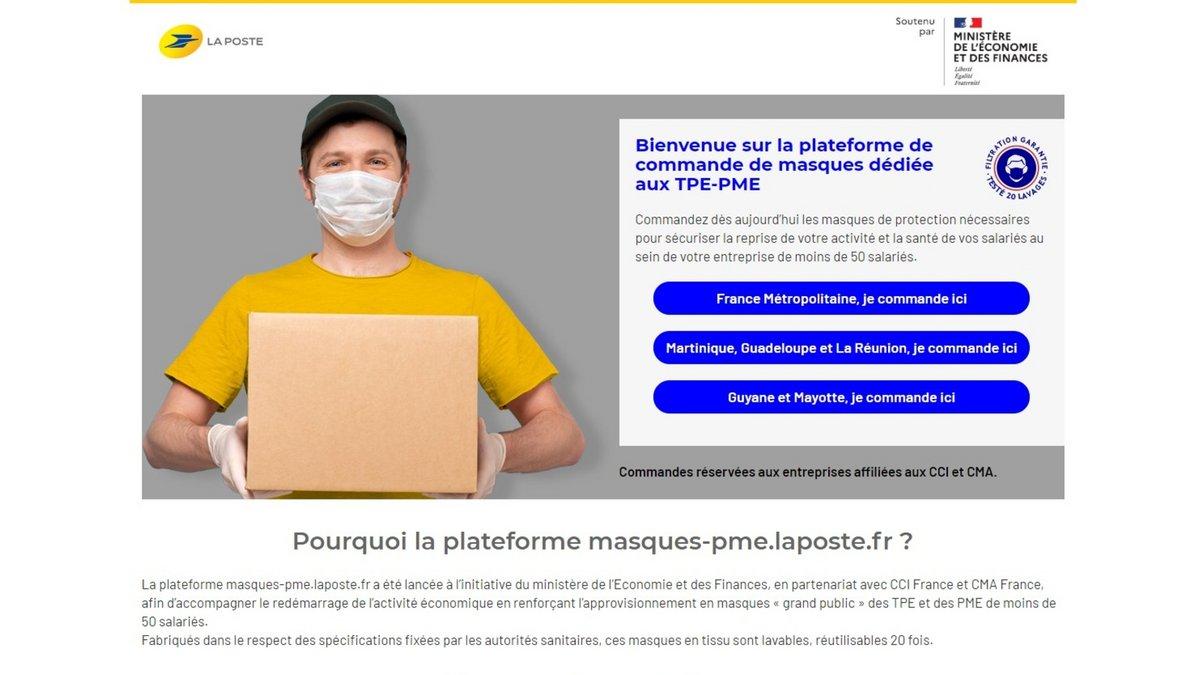 Plateforme masques La Poste © Clubic
