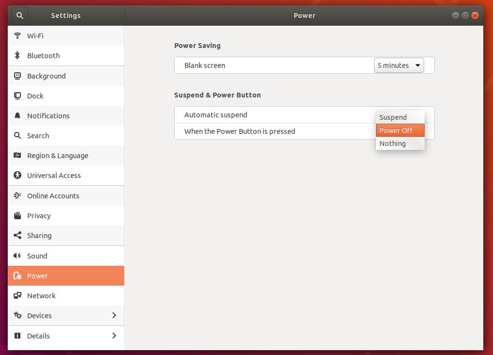Ubuntu - Automatic Suspend
