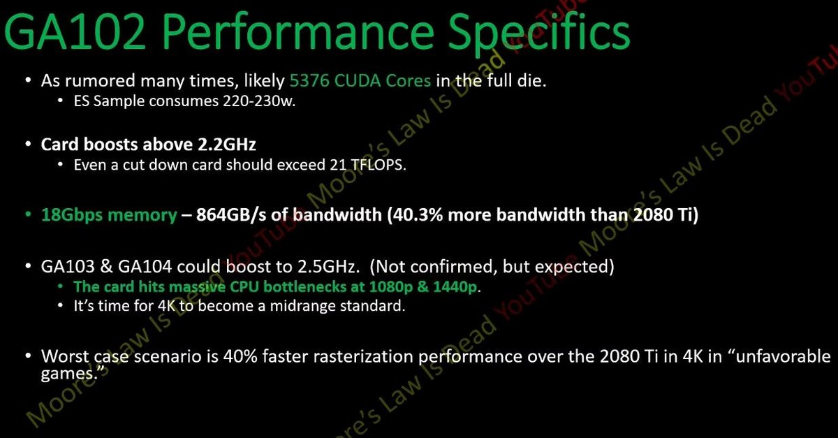 GA102 Performance Specifics