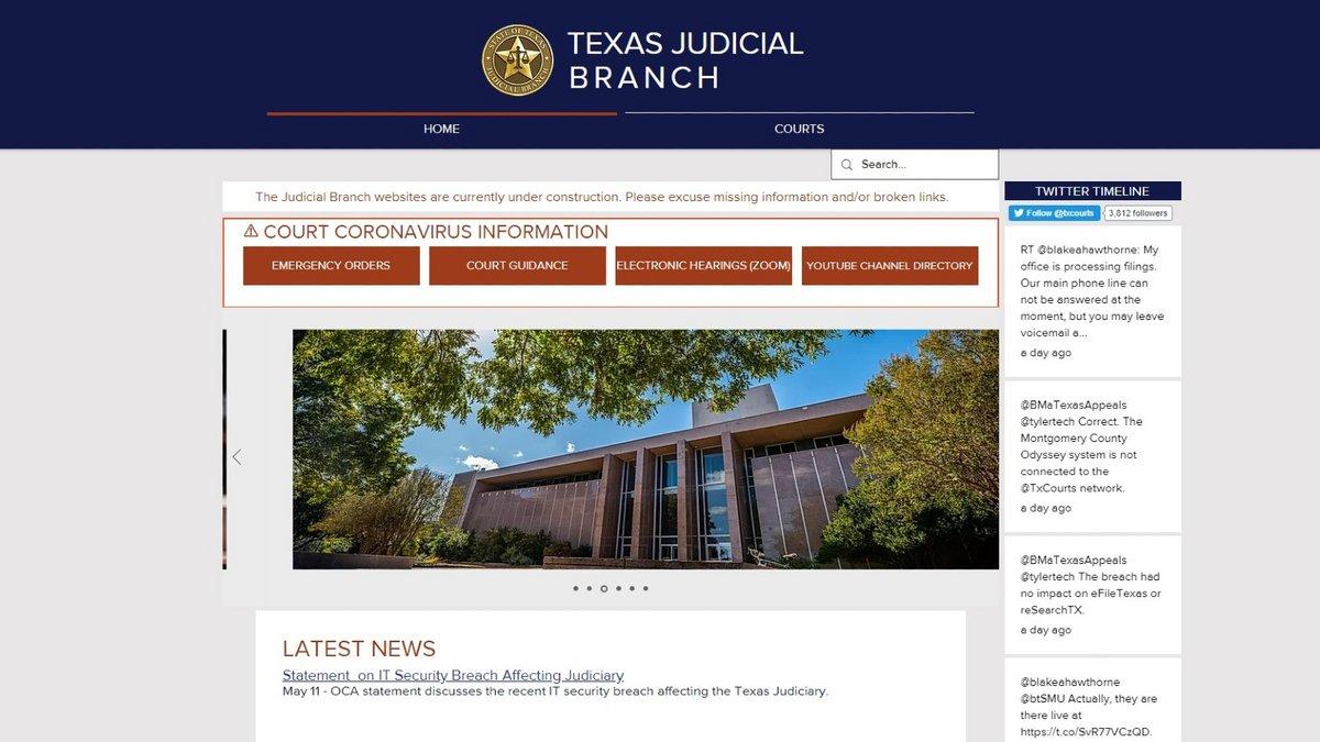 texas-justice-site-web © Clubic / Alexandre Boero