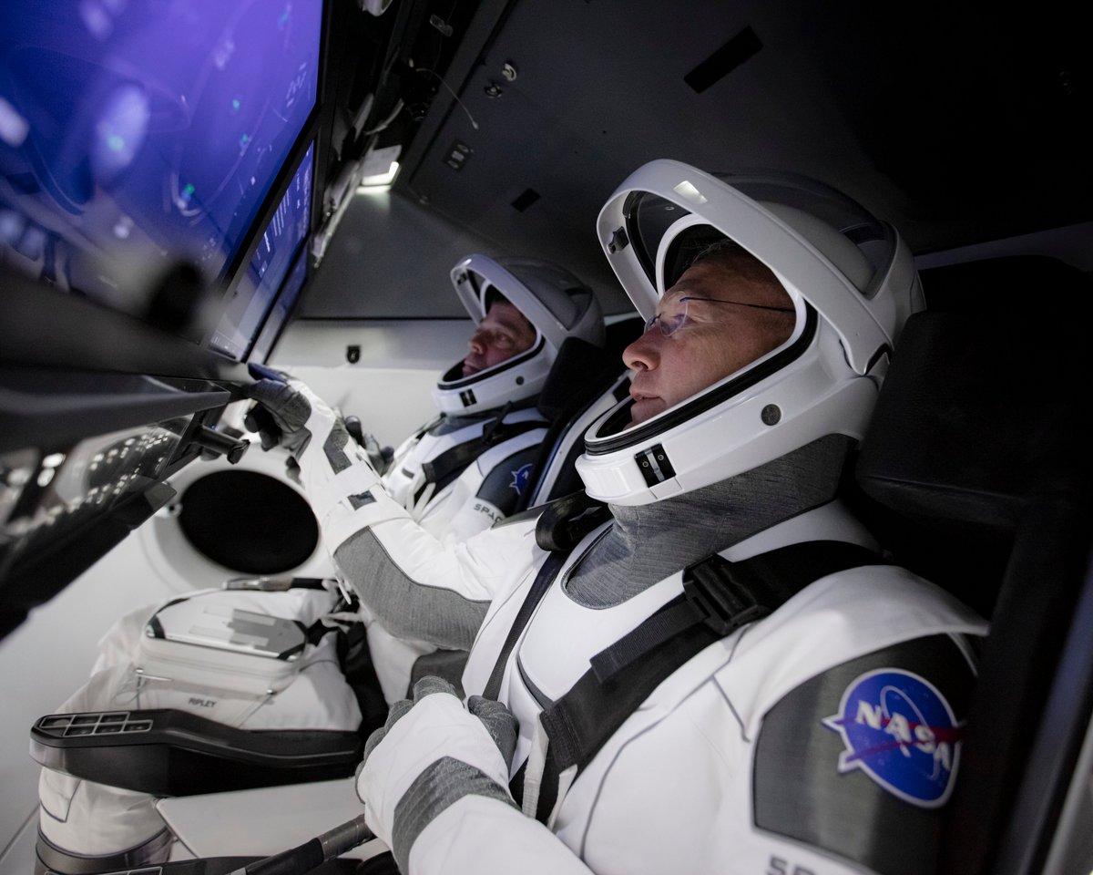 Crew Dragon SpaceX intérieur ©NASA/SpaceX