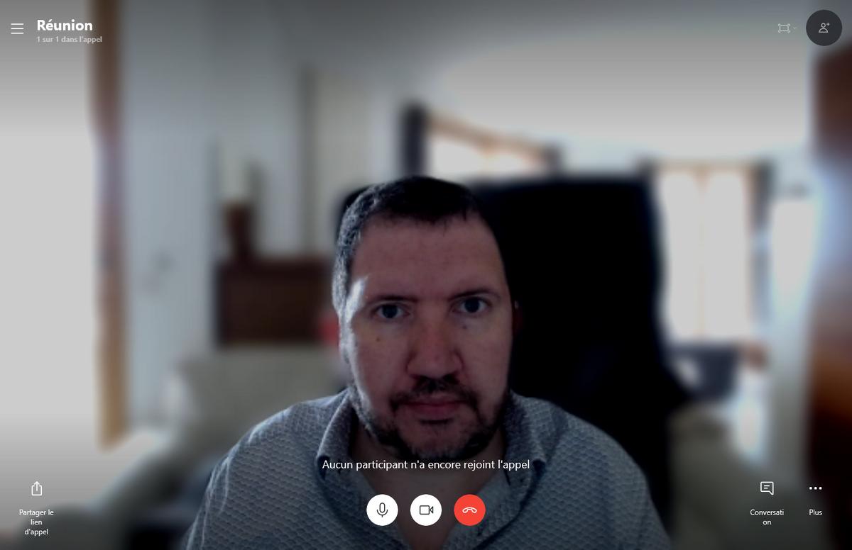 Arrière-plan flou de Skype