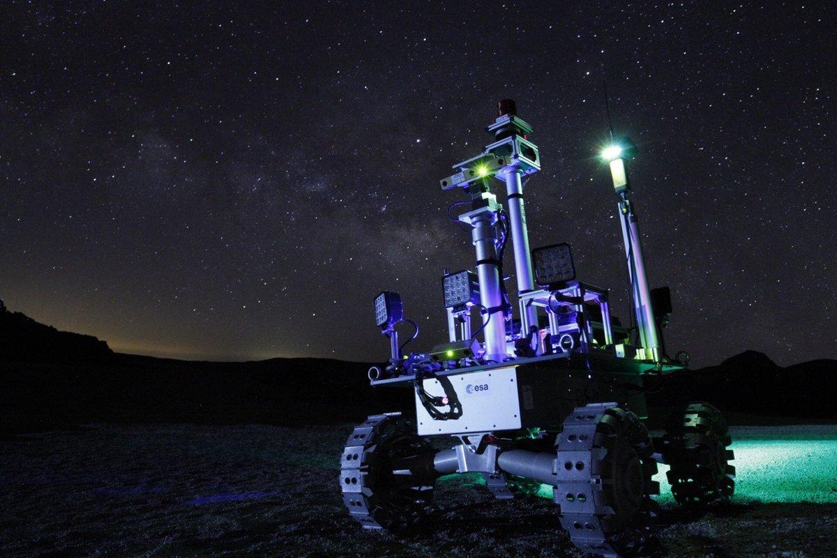 Rover ESA Test Nuit Tenerife ©Fernando Gandía/GMV