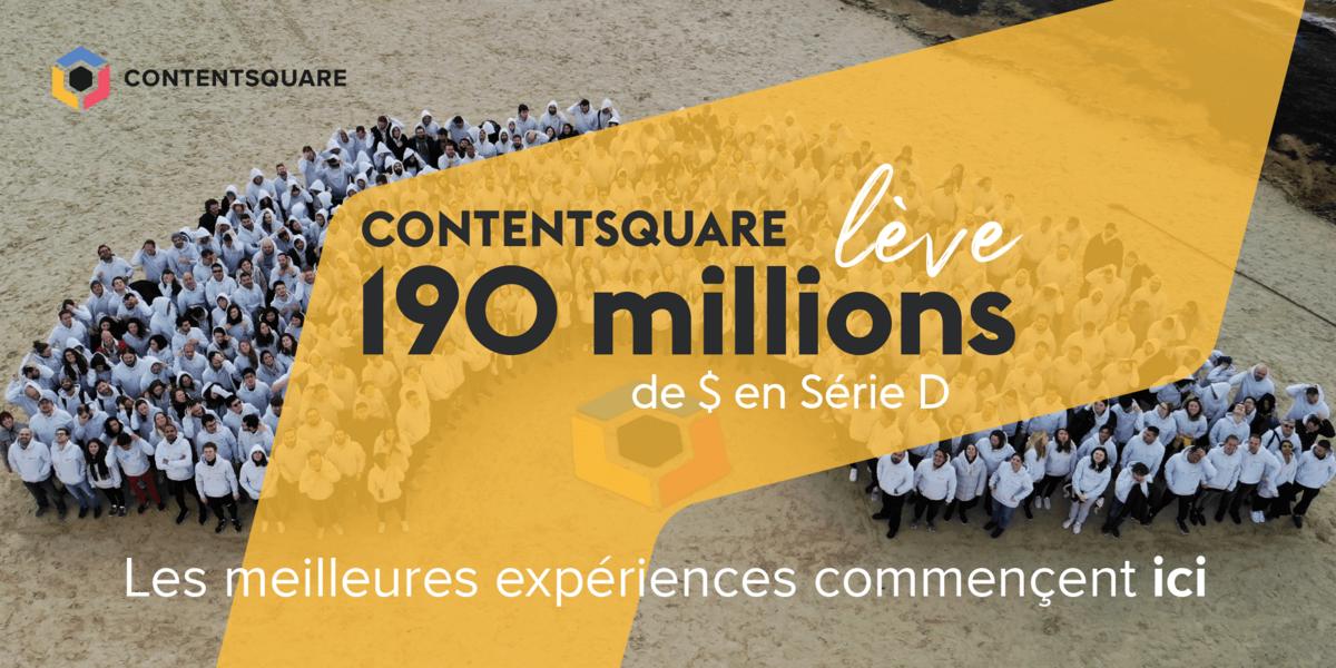 Contentsquare leve 190 M$ © Contentsquare